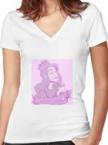 Gemma the Cocktail Queen Women's Fitted V-Neck T-Shirt