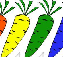 rainbow carrots Sticker