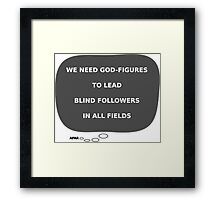 Message From Afar - God figure Framed Print