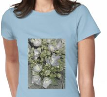 Floral Design Womens Fitted T-Shirt