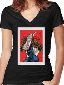 SHAOLIN FANTASTIC Women's Fitted V-Neck T-Shirt