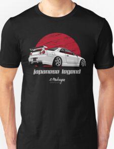 Skyline GTR R34 (white) Unisex T-Shirt
