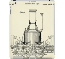 Locomotive Steam Engine-1837 iPad Case/Skin
