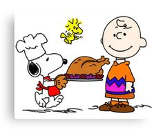 CHARLIE BROWN SNOOPY THANKSGIVING SEMUT Canvas Print