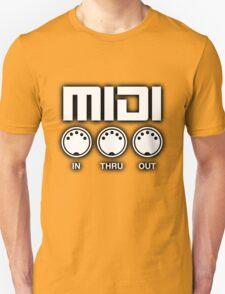 Midi White Black Edge T-Shirt
