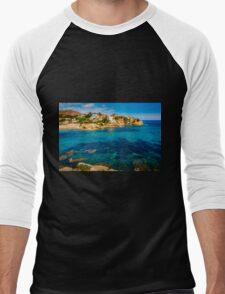 Sunshine at Cala d'Enmig Men's Baseball ¾ T-Shirt
