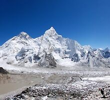 Khumbu Skyline by laurette