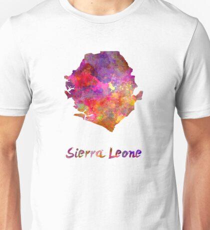 Sierra Leone  in watercolor Unisex T-Shirt