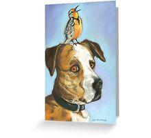 Roscoe Put a Bird On It Greeting Card