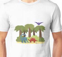 Dino trouble Unisex T-Shirt