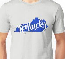 Kentucky : Blue and White Unisex T-Shirt