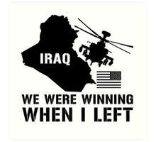 Iraq- Winning when I left Art Print