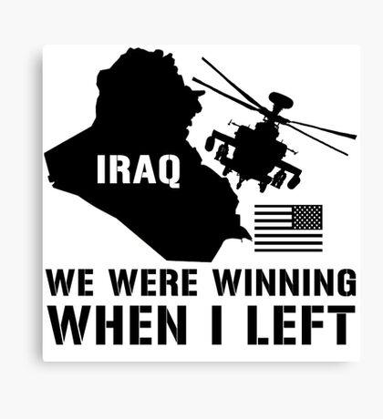 Iraq- Winning when I left Canvas Print