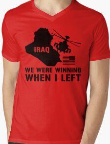 Iraq- Winning when I left Mens V-Neck T-Shirt