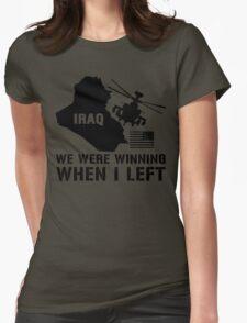 Iraq- Winning when I left Womens Fitted T-Shirt