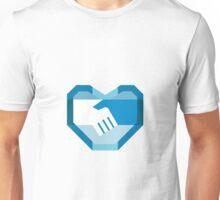 Handshake Forming Heart Shape Retro Unisex T-Shirt