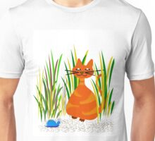 BlueSnail with Cat  Unisex T-Shirt
