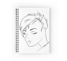 beautiful woman face,hand drawn  Spiral Notebook