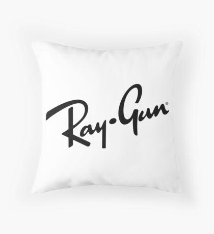 Ray Gun BW Throw Pillow