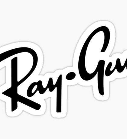Ray Gun BW Sticker