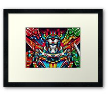 Voltron Full Defender Framed Print