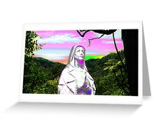 psychedelic sunset hail mary Greeting Card