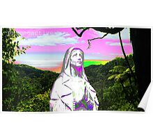 psychedelic sunset hail mary Poster