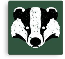 Badgers Crossing (B&W Badger Face) Canvas Print