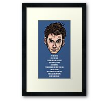 10th Doctor Framed Print