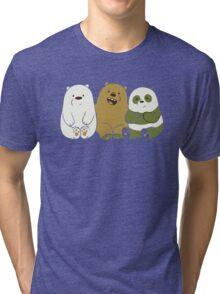We bare bears cute Tri-blend T-Shirt
