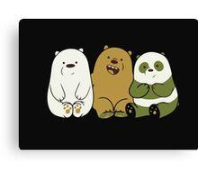 We bare bears cute Canvas Print