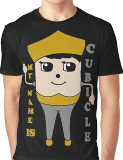 My Name is Cubicle - Cute Cartoon Vector Graphic T-Shirt