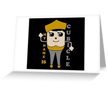 My Name is Cubicle - Cute Cartoon Vector Greeting Card