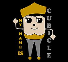 My Name is Cubicle - Cute Cartoon Vector Photographic Print