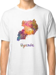 Uganda in watercolor Classic T-Shirt