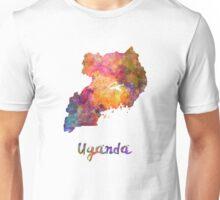 Uganda in watercolor Unisex T-Shirt