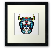 Voltron Head Defender Framed Print