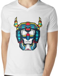 Voltron Head Defender Mens V-Neck T-Shirt