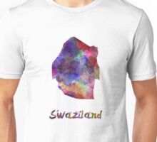 Swaziland in watercolor Unisex T-Shirt