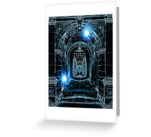 Abstract Gothic Architecture Greeting Card