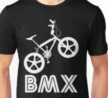 BMX Silhouette (White) Unisex T-Shirt