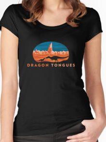Dragon Tongues logo Women's Fitted Scoop T-Shirt