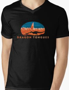 Dragon Tongues logo Mens V-Neck T-Shirt