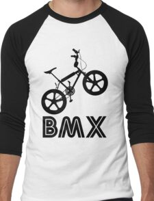 BMX Silhouette (Black) Men's Baseball ¾ T-Shirt