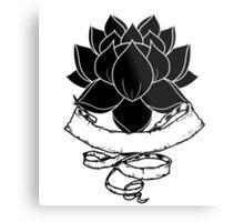 Lotus With Ribbon Metal Print
