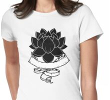 Lotus With Ribbon Womens Fitted T-Shirt
