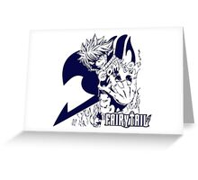 Come On - Natsu Dragneel Fairy Tail Anime (Blue) Greeting Card