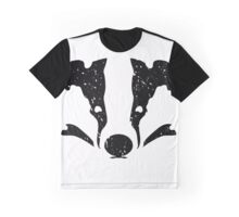 Badgers Crossing (Black Badger Face) Graphic T-Shirt