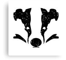 Badgers Crossing (Black Badger Face) Canvas Print