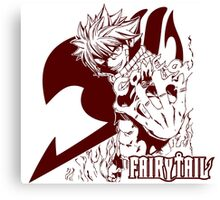 Come On - Natsu Dragneel Fairy Tail Anime (Red) Canvas Print